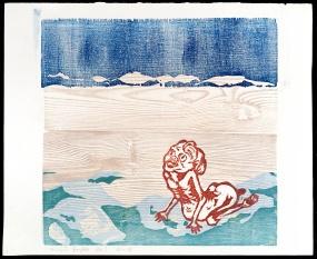 Woodcut - Völundur Draumland Björnsson